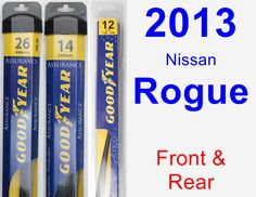 Front & Rear Wiper Blade Pack for 2013 Nissan Rogue - Assurance