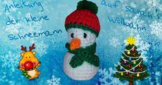 Schneemann mit Schal & Mütze