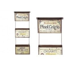 Wine Labels Printed Facia Three Metal Boxes    $54.00 @ http://www.antiquefarmhouse.com/current-sale-events/it-s-all-about-wine.html