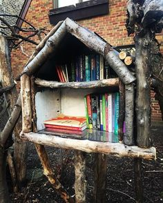 Little Library- on Talman just north of Logan Square Blvd.  #mylogansquare share from @megykarydes  Is this not the cutest #littlefreelibrary? I'm obsessed with them. Every time I see one in #Chicago I have to pull over. It's gotten to the point that I need to keep extra books in the car so I can leave one behind if I happen to drive past one!  #Littlibraries #Chicago #LoganSquare