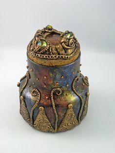 Treasure Jar - created by Jayne Ayre Kismet Clay Designs www.kismetclaydesigns.blogspot.com
