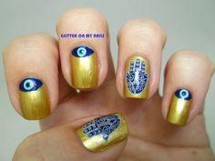 GLITTER ON MY NAILS: fatima's hand and turkish eye manicure @bundlemonster