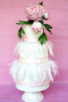 THE ELEGANCE THE PEONYE AND LIGTH WAFER PAPER - Cake by Renata Brocca