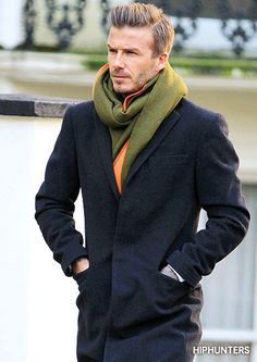 Men in scarves...YUM....David Beckham in scarves...Yummier!! Wish my hubby would wear a scarf...Yummiest!! T-
