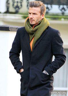 Men in scarves...YUM....David Beckham in scarves...Yummier!! Wish my hubby would wear a scarf...Yummiest!! T-