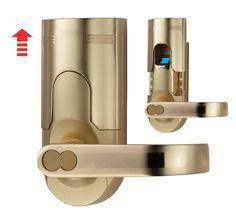 Amazon.com : Assa Abloy Digi Electronic Biometric Fingerprint + Keypad Password Door Lock Set 86 Intersected Gold (Right Hand Door) : Camera & Photo