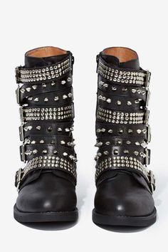Jeffrey Campbell Cruzados Leather Boots, also great with a skirt