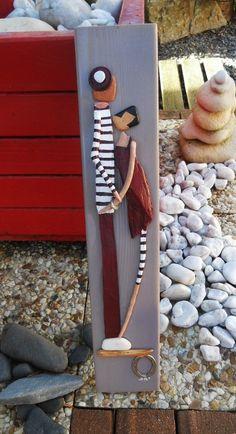 Tableau des amoureux du bois flotté à la mer : Décorations murales par les-toiles-de-mer-de-syl