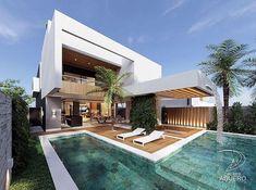 Luxury Homes - Luxury Home Dream House Exterior, Dream House Plans, Modern Villa Design, Contemporary Design, Luxury Homes Dream Houses, Modern Mansion, Modern Architecture House, Dream Home Design, House Goals