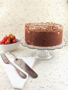 COCOA ESPRESSO ALMOND PASSOVER SPONGE CAKE (gluten free)
