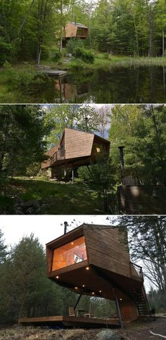 Made completely out of wood, it is a vacation rental to experience living high in the trees, without actually being on a tree, surrounded by leaves and nature. It can provide the atmosphere needed for full relaxation away from the city's busy life. Treehouses, Busy Life, Romantic Getaway, In The Tree, Another World, Woodstock, Mother Nature, Relax, Trees