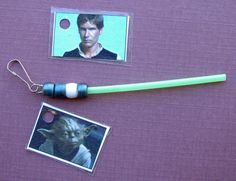 Crack of Dawn Crafts: Mini Lightsaber Photo Key Chain Favor for Star Wars Birthday Party