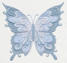 Baroque Natura - Butterfly | Urban Threads: Unique and Awesome Embroidery Designs