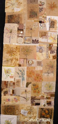 Love this mixed media quilt -  IQF Long Beach 2012 - Rituals