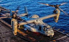 A U.S. Marine Corps MV-22B Osprey