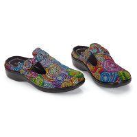 Mosaic Swirl Clogs