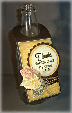 Thanksgiving  Autumn Themed Wine Tag