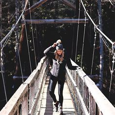 Making my way across the Toccoa River Swinging Bridge today on A Daydream Love-a small clip of my adventure is linked in the bio! Get my hiking gear here> http://liketk.it/2q2sE  #liketkit @liketoknow.it #adltravels #mynature