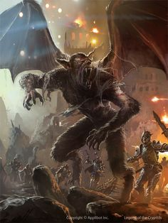 Werewolves by edwarddelandreart vampire monster beast for Monster advanced search