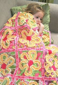The Halle Rose quilt.  Sooo cute. Could be changed to any fabric colors!