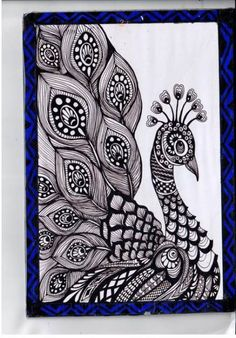 56 Ideas For Tattoo Mandala Design Zentangle Doodle Art Drawing, Zentangle Drawings, Mandala Drawing, Bird Drawings, Pencil Art Drawings, Art Drawings Sketches, Nature Drawing, Zentangle Patterns, Zentangles