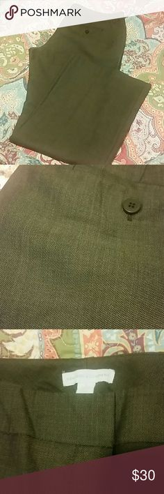NY&CO slacks All bundles 30% off!   Beautiful brown textured polyester slacks. Only worn once! Great for the office. Slit pockets in front and back, slight flare leg. New York & Company Pants Trousers