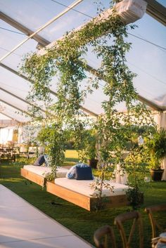 Bed Swings are great for any reception! Ocean Course, Kiawah Island Wedding by Fox Events. Wedding Swing, Wedding Lounge, Indoor Wedding, Church Wedding, Rustic Wedding, 1920s Wedding, Wedding Locations California, Beach Wedding Locations, California Wedding