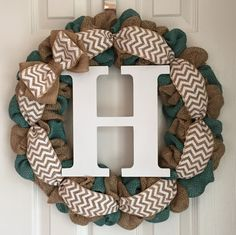 """Two Toned Teal Wreath for Front Door - Every Day Wreath for Front Door - Teal Burlap Farmhouse Wreath - Anytime Wreath - Teal Door Decor. Teal two-toned burlap wreath made on a 16"""" wire frame. The finished product is about 20"""" in diameter. Each wreath is handmade and may differ slightly from the example shown in the photo. I make every effort to ensure each wreath is full and even. All my wreaths are made to order so please allow 1-2 weeks of processing time. Thank you for your interest…"""