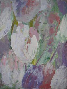 """""""Tulppaanien aikaan"""" by Teija Kosenius.AteljeeTiriteijaa"""