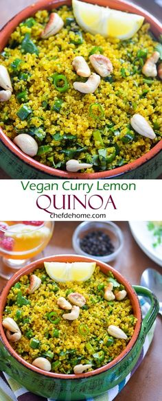 Curry Lemon Quinoa (Rice) - A delicious and healthy re-take on curry-lemon fried rice.
