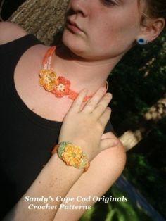 Cotton Jewelry Set Crochet Patterns PDF 106 by AuntieMomsBling