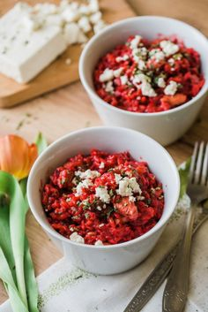 recept rizoto Beetroot, Bruschetta, Risotto, Salsa, Low Carb, Menu, Vegan, Healthy, Ethnic Recipes