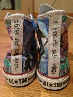 The Hobbit Converse Hightops by FootprintsofColor on Etsy, $125.00
