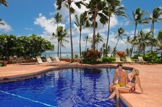 The Aston Aloha Beach Resort is designed with island-inspired furnishings, a lanai, and has a view of either the ocean or the garden! From $98.69 per night!