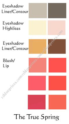Best Makeup Colours : True Spring : 12 Blueprints ... I think I wear True Spring makeup pretty well.