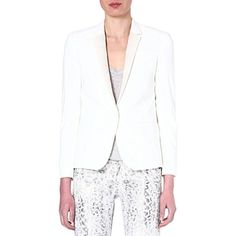 THE KOOPLES Leather lapel jacket (Ecru