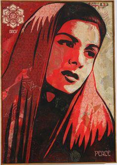 Shepard Fairey - Peace Mujer Canvas #shepardfairey #jonathanlevinegallery