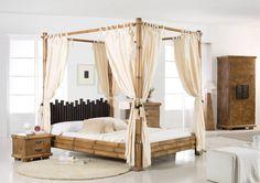 Asiatisches Himmelbett Bambus Cabana HonigAntik. Das exotische Himmelbett in…
