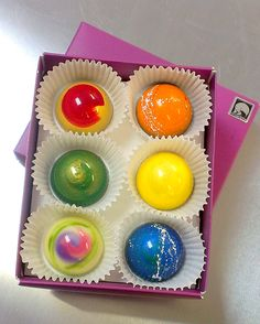 Sweet Chalet's Aurora chocolate bonbons 6 pc box.