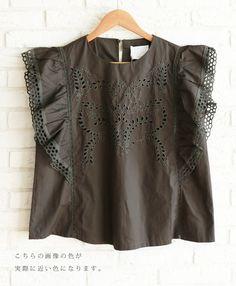 【楽天市場】(褐色の黒)「french」蝶のような袖フリルトップス6/19新作:cawaii