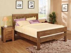 santana reclaimed oak bed multiple sizes double bed super king