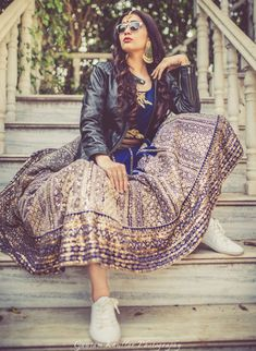 Looking for Pre wedding outfit lehenga with leather jacket? Browse of latest bridal photos, lehenga & jewelry designs, decor ideas, etc. on WedMeGood Gallery. Indian Photoshoot, Bridal Photoshoot, Bridal Shoot, Saree Photoshoot, Bridal Poses, Bridal Portraits, Wedding Poses, Wedding Ideas, Wedding Blog