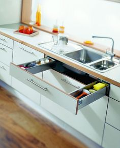 Kitchen cabinets with drawers: 16 functional storage solutions | http://www.littlepieceofme.com/kitchen/kitchen-cabinets-with-drawers/