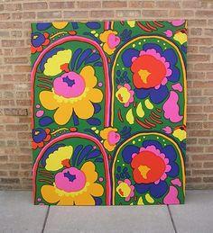 Vintage Marimekko fabric panel.