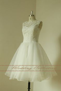 Lovely Ivory knee length short prom dress by Weddingcollection