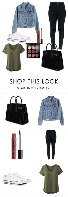 """""""In-Flight Style"""" by lightbody-joanna on Polyvore featuring Yves Saint Laurent, NYX, Converse, prAna and MAC Cosmetics"""