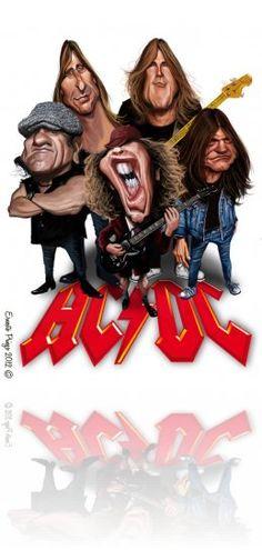 Hilarious Caricatures of Famous Celebrities Rock And Roll, Pop Rock, Heavy Metal, Funny Caricatures, Celebrity Caricatures, Rock Posters, Concert Posters, Cartoon Faces, Cartoon Art