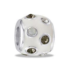 DaVinci Beads White CZ Dots Jewelry