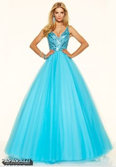 Prom Dress 98081 Beaded Tulle Ball Gown