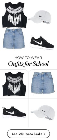 """""""too cool for school"""" by neadom25 on Polyvore featuring Topshop, WithChic and NIKE"""